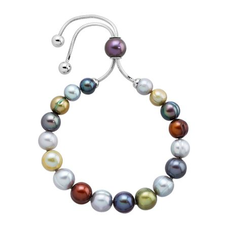 7-10 mm Multi Pearl Bolo Bracelet with Slider
