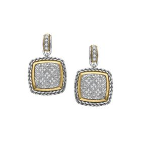 1/4 ct Diamond Cable Drop Earrings