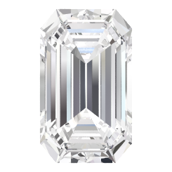 792335bf4c9d3 Emerald-Cut Ara Ring (7mm gem) - Emerald White Sapphire 14K White Gold Ring